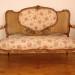 Aranyozott rokokó kanapé